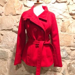 Jackets & Blazers - MAX Red Peacoat , Large